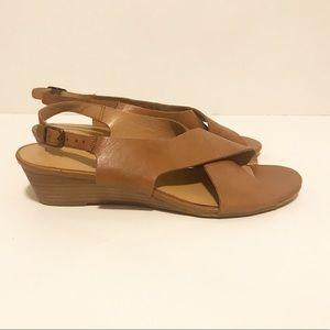 NWOT Franco Sarto Brown Leather Sandals
